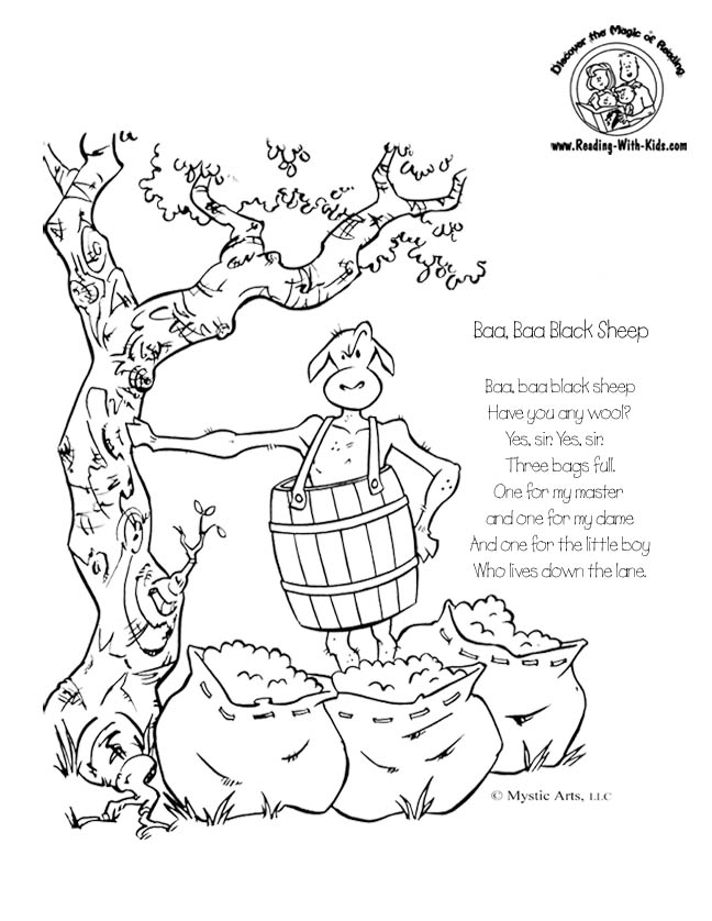 free nursery rhymes coloring pages - photo#32