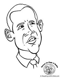 Barack Obama Coloring Page