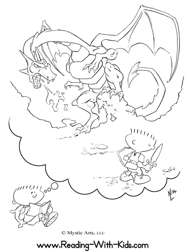 Dragon Dreamer coloring page