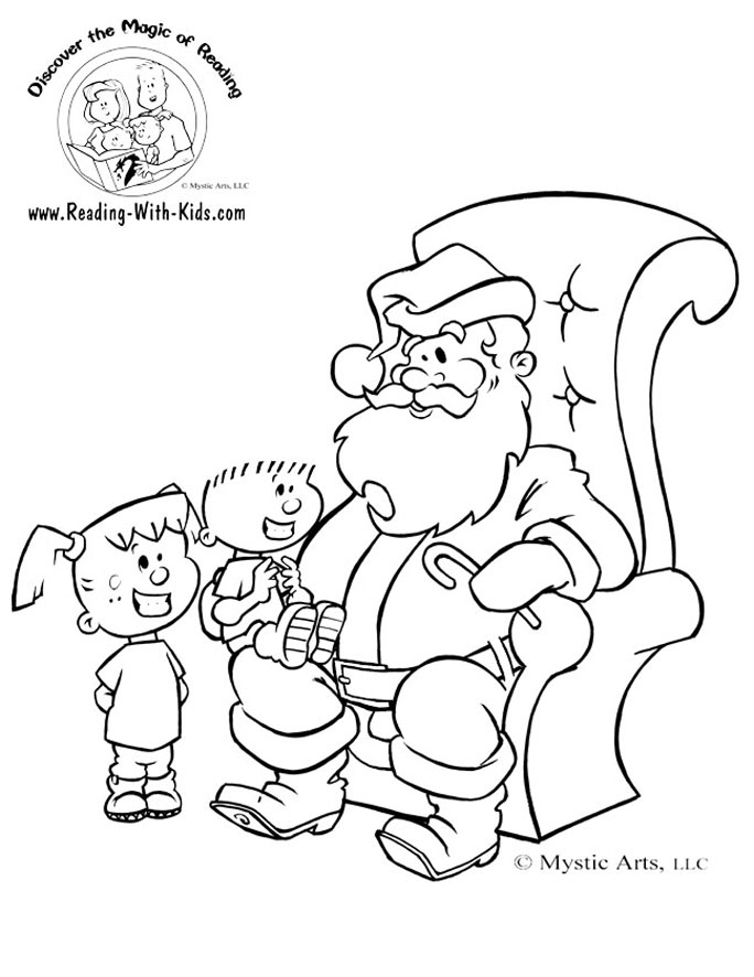 christmas coloring page - Holiday Coloring Sheet