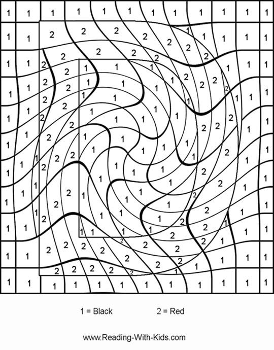 color by number letter d - Number Coloring Pages