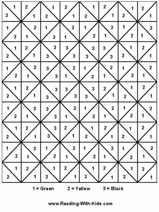 Number Names Worksheets number coloring sheets : Color by number coloring pages