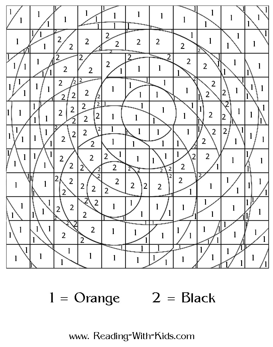 Coloring pages using addition -  Color By Number Letter P