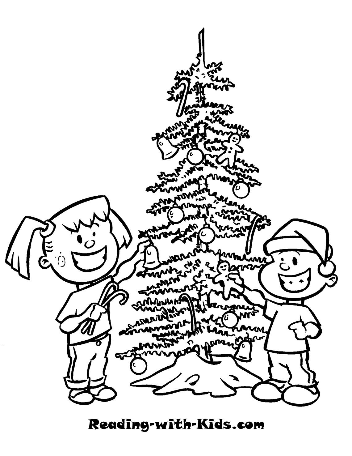 Decorate Christmas Tree coloring page