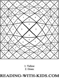 Color by number letter z