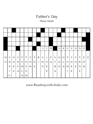 Fathers Day phrase puzzle