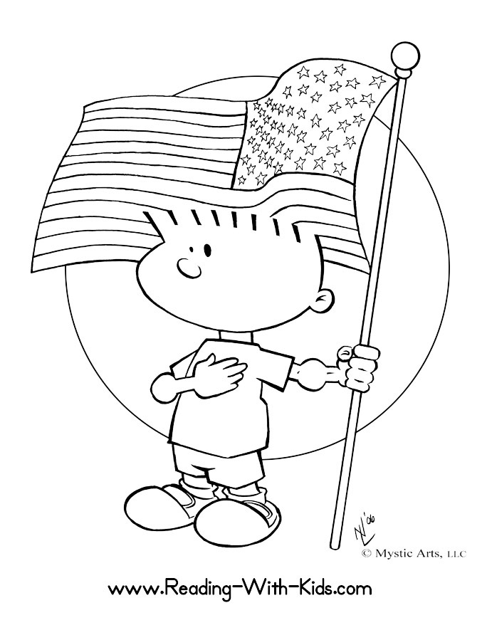 Coloring Page Flag CBN