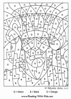 Halloween Coloring Pages  on Check Out Our Other Color By Number Pages Here