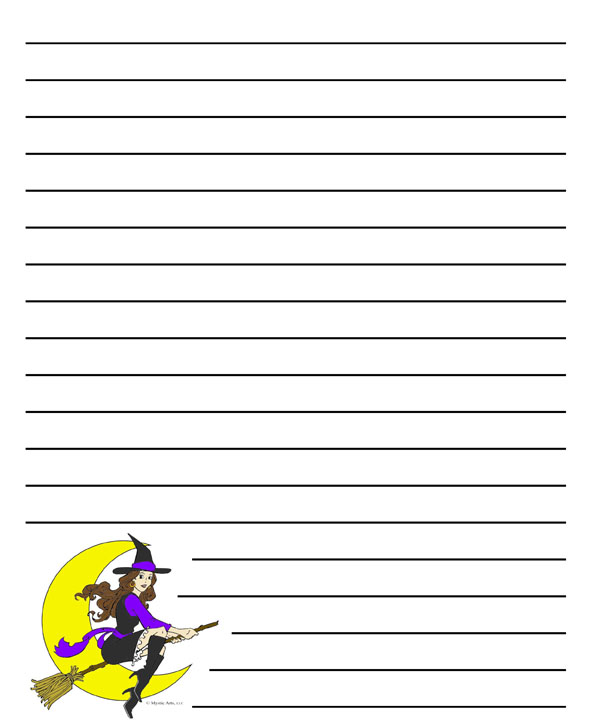 story halloween witch stationery - Story About Halloween