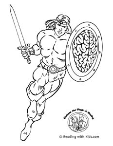 Hero Coloring Page