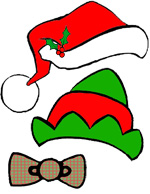 Christmas Photo Props - Santa cap and elf hat