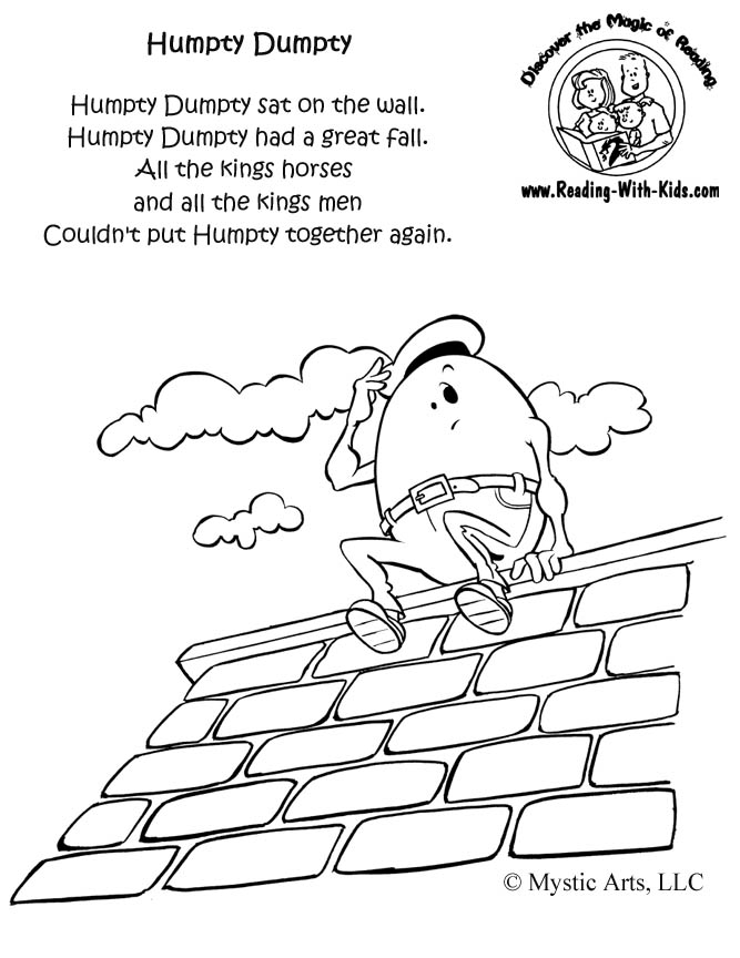 Humpty Dumpty Coloring Page Images, Pics, Wallpapers, Photos