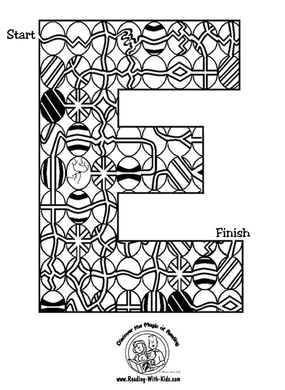 Easter Alphabet Coloring Pages : Easter