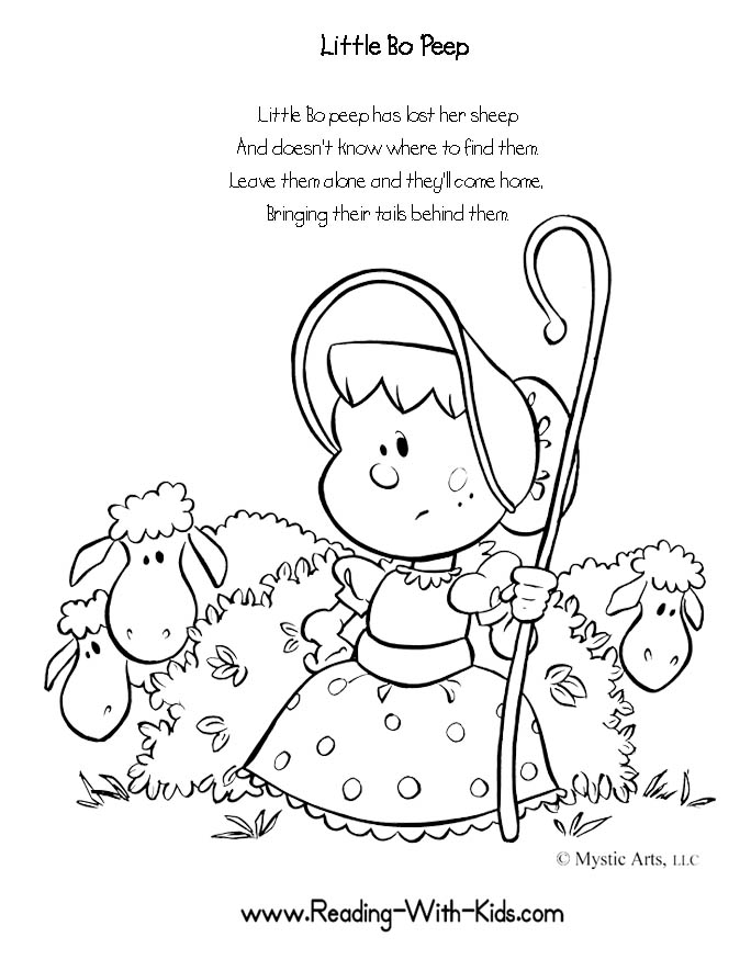 free nursery rhymes coloring pages - photo#25