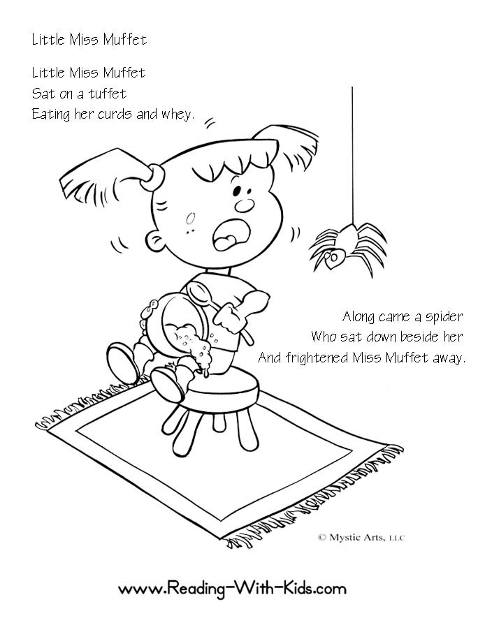 Incy wincy Spider Coloring Page - Twisty Noodle | 885x684