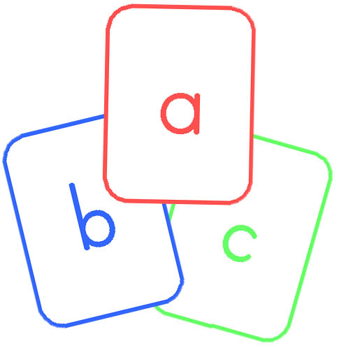Coloring Pages on Lower Case Alphabet Cards