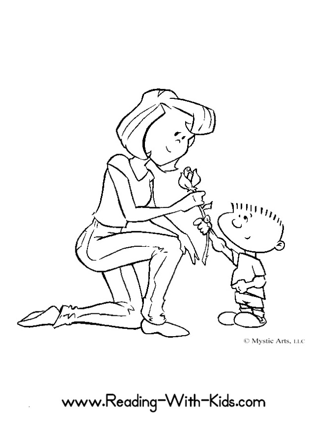 coloring pages mom and kids - photo#38