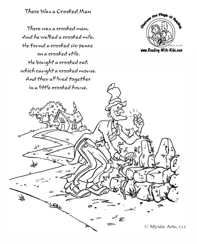 nursery rhyme coloring pages - photo#34