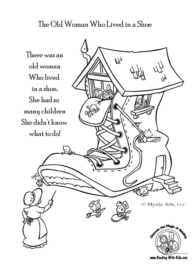 nursery rhyme coloring pages - photo#7