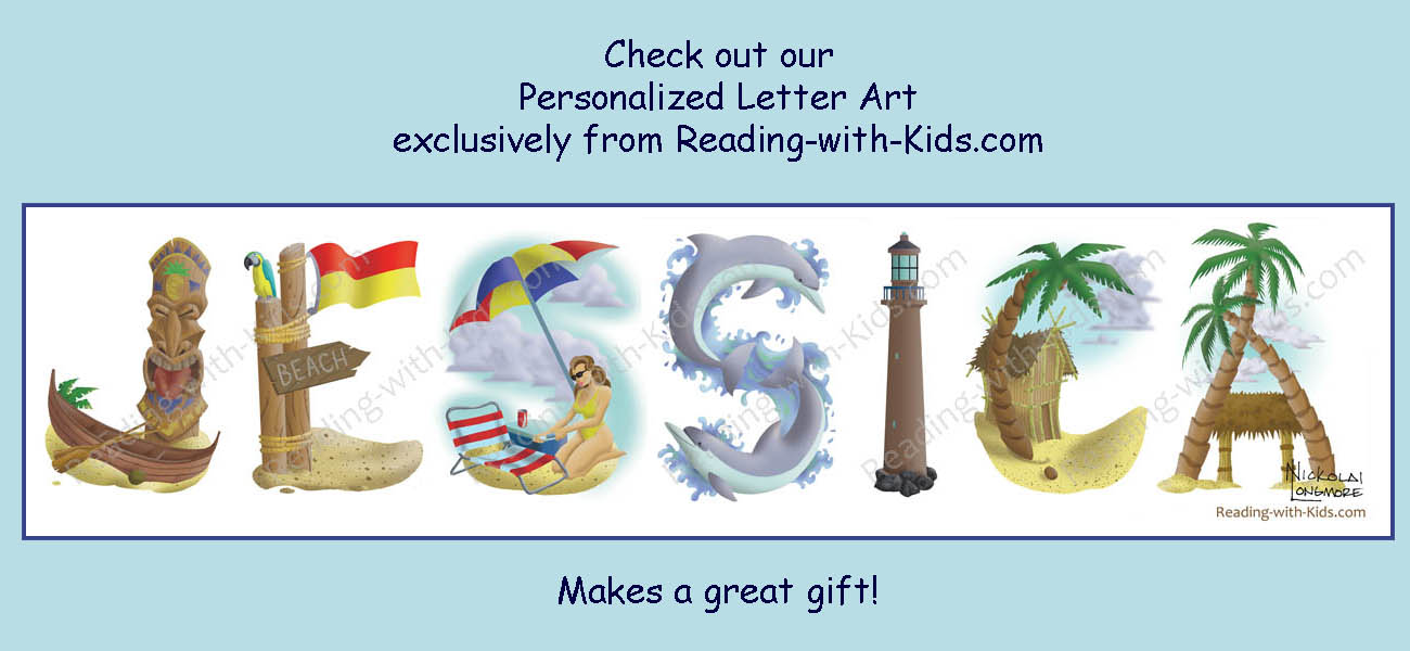 Personalized Letter Art by Reading-with-Kids.com
