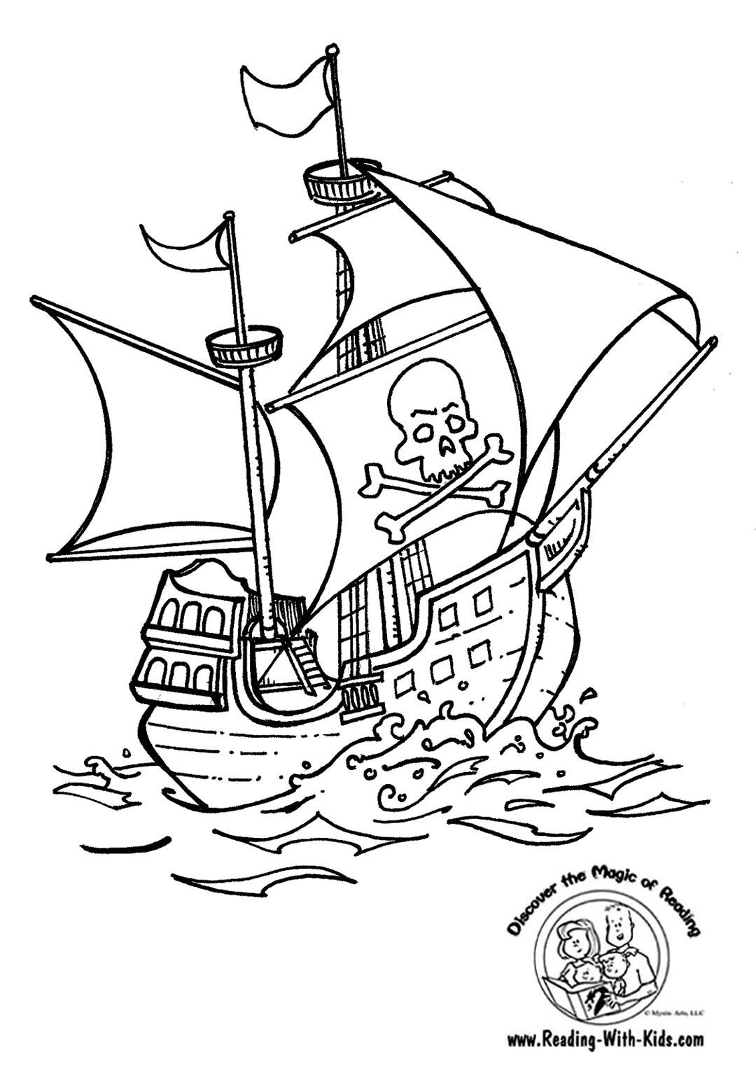 pirate boat drawing images pictures becuo
