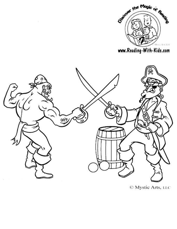 Pirate coloring page