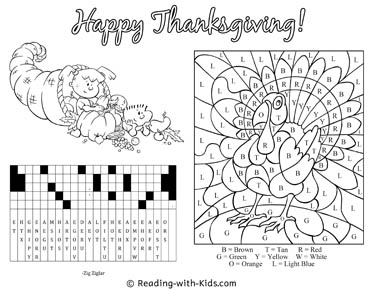 Thanksgiving Phrase Puzzle Placemat