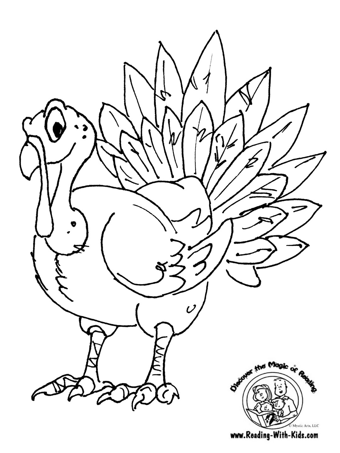 thanksgiving turkey coloring page - Coloring Pages That You Can Color