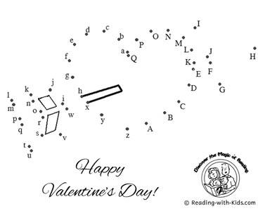 Valentine's Day themed connect the dots picture puzzle and ... | 300x367