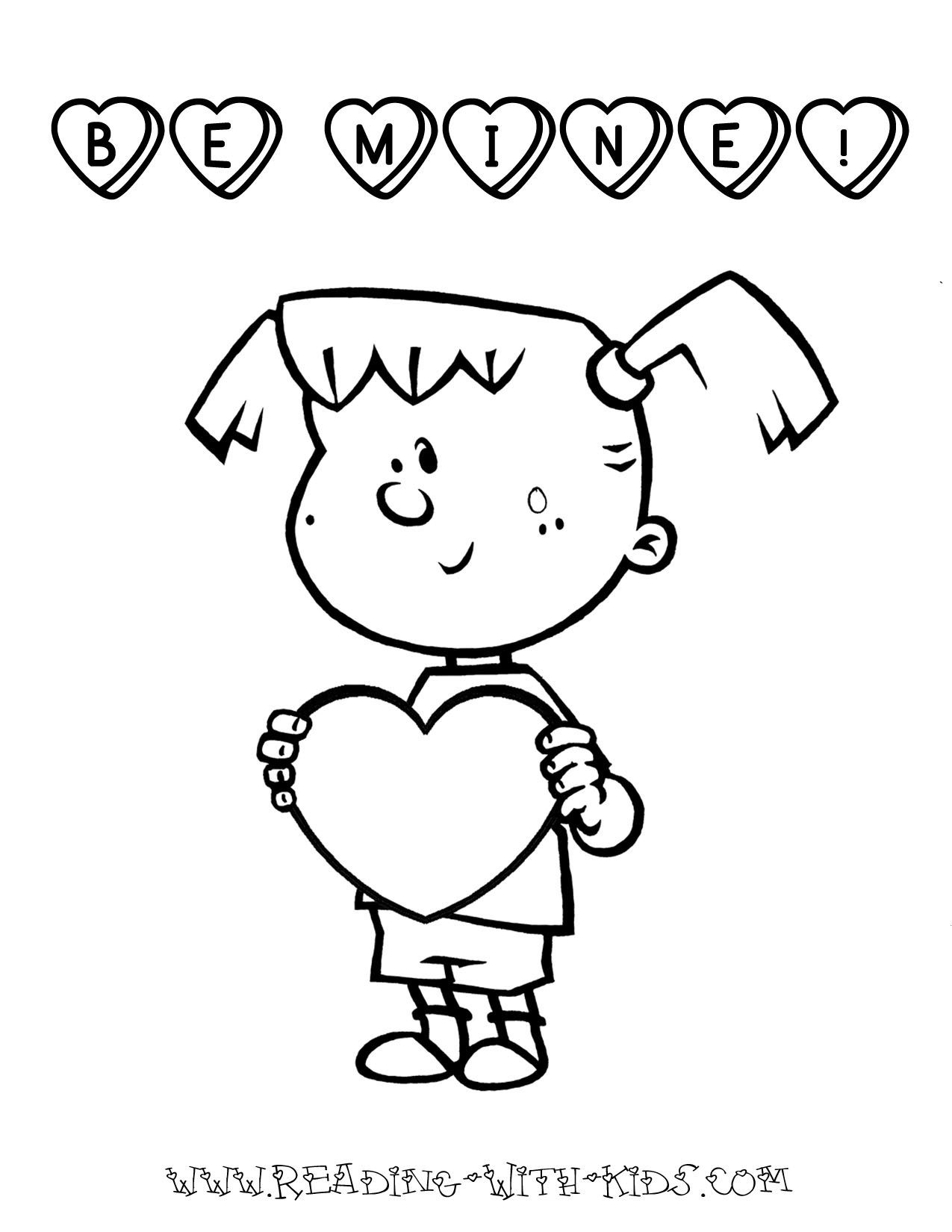 valentine coloring pages for girls - photo#28