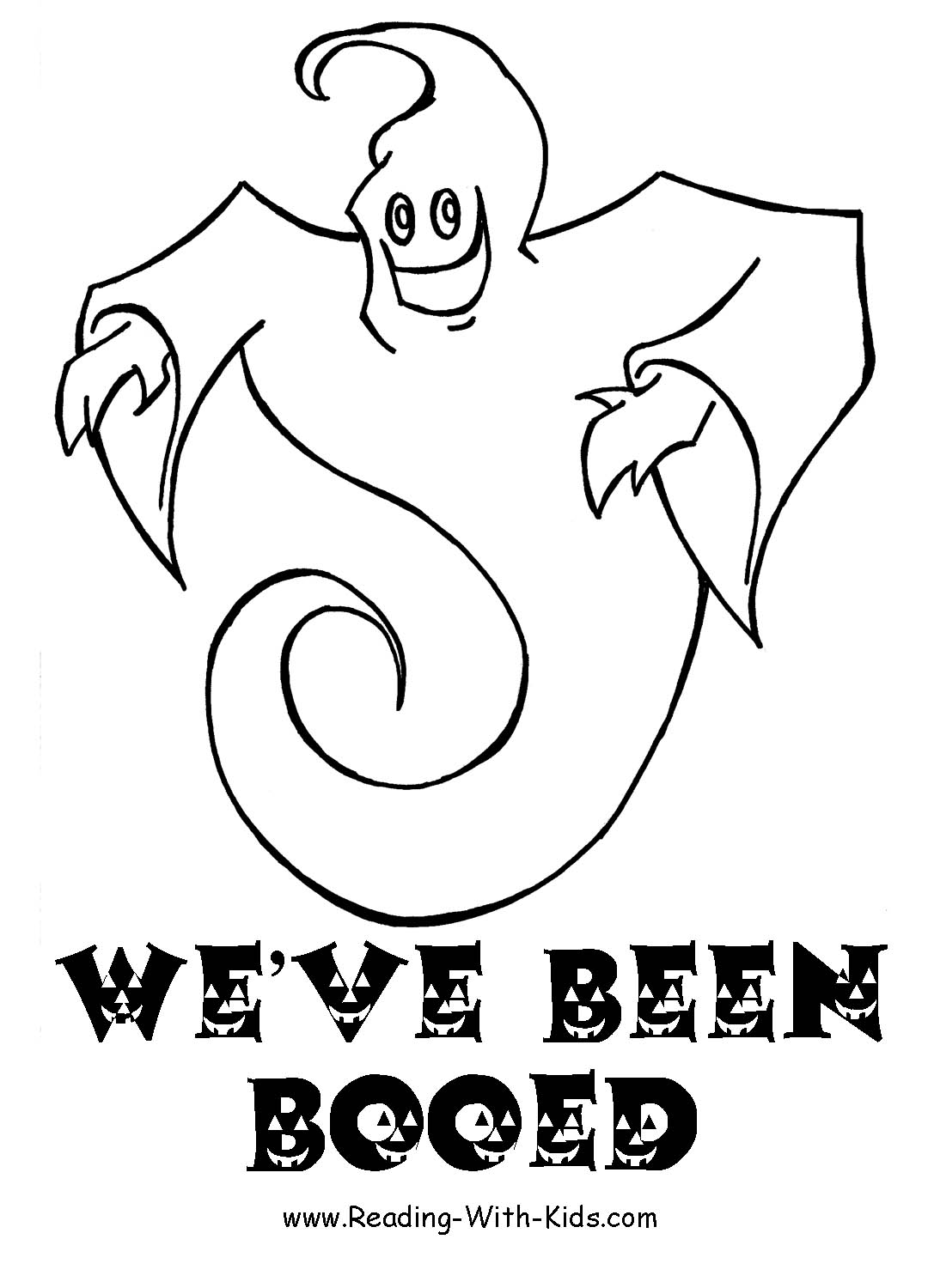 coloring pages on ghosts reading - photo#16